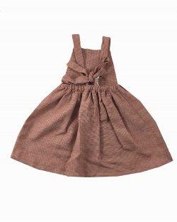 Vestido Nellie Quats Linho Infantil Quadriculado