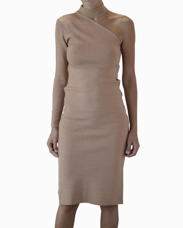 Vestido Talie Nk Lurex Nude