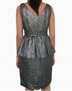 Vestido Kate Spade Metalizado Prata