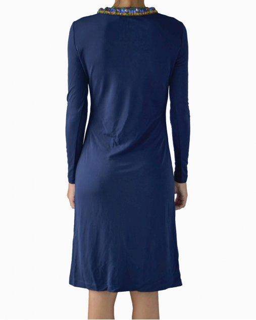 Vestido Tory Burch Sabrina Azul Marinho