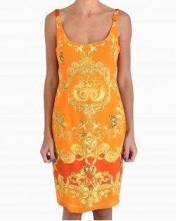 Vestido Versace Laranja