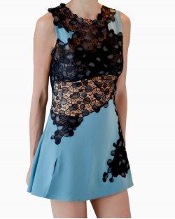 Vestido Versace Renda Preta